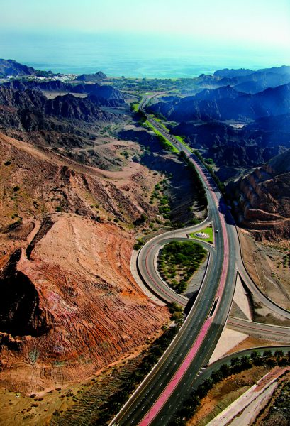 The road to Al Bustan
