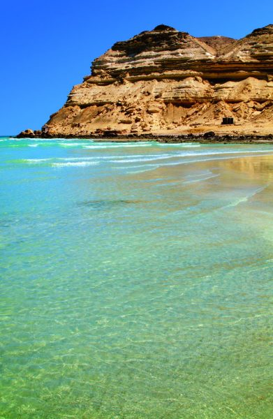 Oman is known for its beaches with clear waters